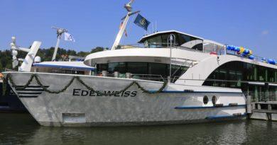 Aanvaring riviercruiseschip Edelweiss op de Waal