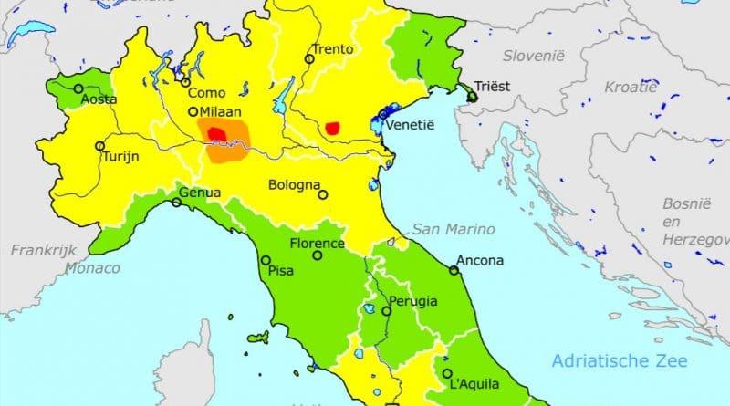 Reisadvies voor Italië van Ministerie van Buitenlandse Zaken